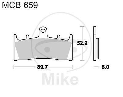 96-99; GSXR GR7DB 1x TRW SINTER Bremsbeläge vorne Suzuki GSX-R 750