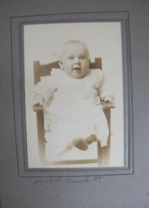1900s-Infant-Baby-High-Chair-Portrait-Folded-Frame-Photo-Greencastle-Indiana