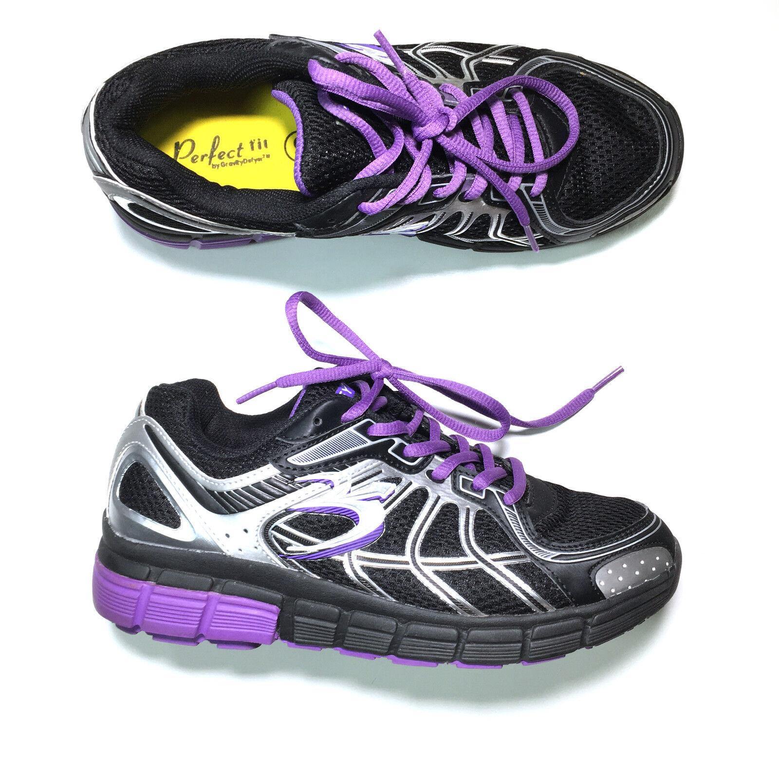 G-Defy  Chaussures  femmes  Sz 9 Super Walk Athletic Nursing Gravity Defyer  noir Violet