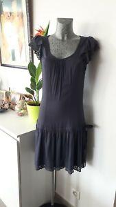 robe de marque PIMKIE grise taille S M 36 38 40 femme woman dress 8 10