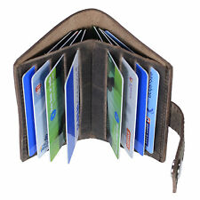 Hide & Sleek Hunter Leather Credit Card Holder In Dark Brown
