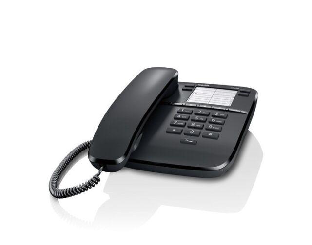 TELEFONO a filo standard per chiamate semplici Gigaset DA310 Nero