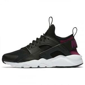 21be0aa68f89 NIKE HUARACHE RUN ULTRA (GS) 847568 008 BLACK TEA BERRY PURPLE WHITE ...