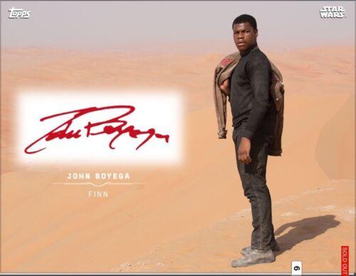 Star Wars Card Trader Digital Card Movie-Vision Finn Roams Jakku Red Signature
