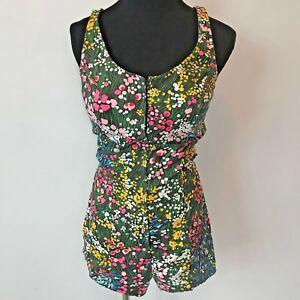 4d790b520835 Vintage 1960s Ceeb Miami Colorful Floral Zip Front Romper Swimsuit ...