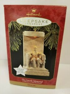 VTG-Hallmark-Keepsake-Ornament-The-Lincoln-Memorial-Christmas-1997-QX7522-Magic