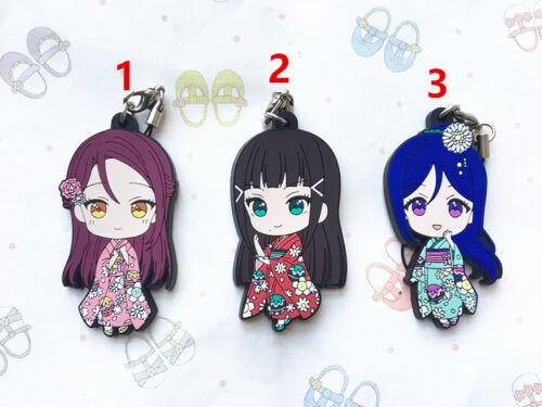 Aqours Kimono Keychain Anime Rubber Strap Charm Lovelive Love Live Sunshine!