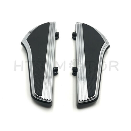 Shark Fin Defiance Driver Footboard For Harley 12-16 FLD 00-19 Touring Road Glid