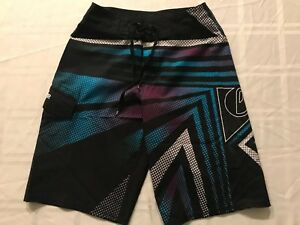 "Swimwear Graphic Shorts 26"" Waist 12 Ts9 Quicksilver 26 Quicksilver 12 Swim Swimwear Youth Youth Sz Sz Board 7qHUw"
