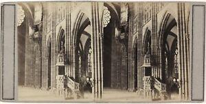 Cattedrale Notre-Dame Da Strasburgo Francia Foto PL52n2 Stereo Albumina c1860