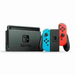 Nintendo Switch 32 Go Console Noir avec Joy-Con Bleu néon, Rouge néon