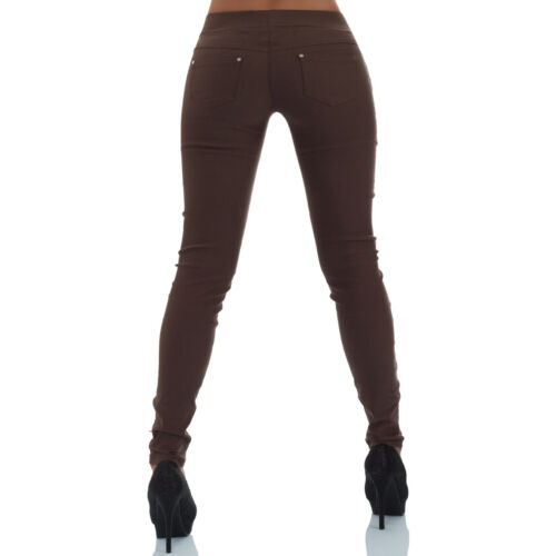 Malucas Damen Hose Stoffhose Röhre Skinny Leggings Jeggings Treggings Stretch