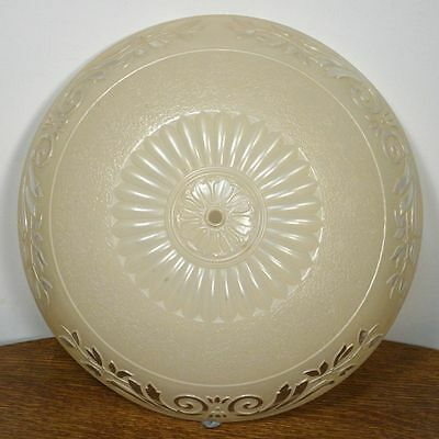 Large Antique Art Deco Round Ceiling Lamp Shade Molded Glass Chandelier Rare Ebay