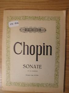 à Condition De Chopin Sonate En Si Mineur Op. 58 C Mineur Choudens Piano Classique Musique Sonate-afficher Le Titre D'origine