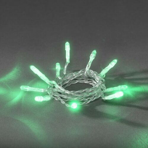 LED Lichterkette 10er jadegrün Batterie Konstsmide 1407-943