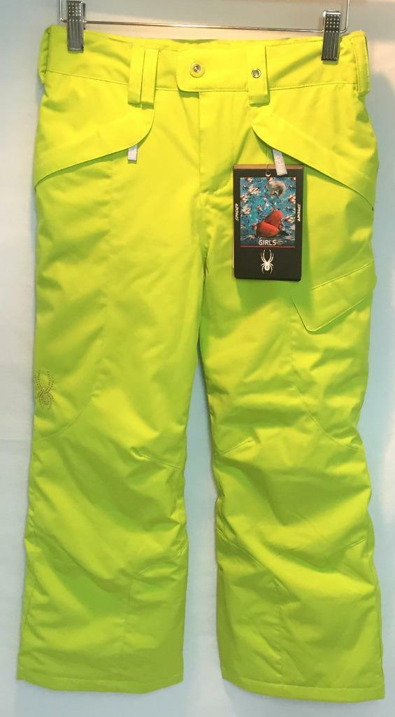 Spyder Junior Girls Vixen Snow Ski Snowboard Pants Sharp Lime Size 16 NEW