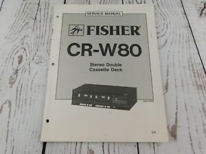 Details about FISHER CR-W80 Stereo Double Cette Deck SERVICE MANUAL on