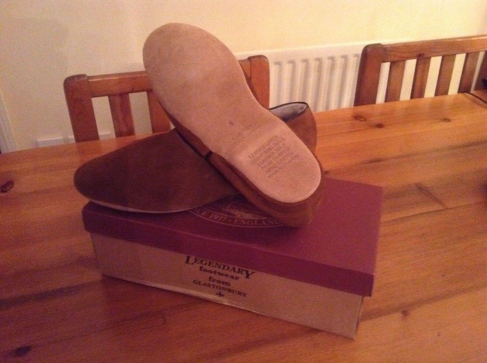 Drapers of Glastonbury ANTON Sheepskin slippers in Mocca   7-11