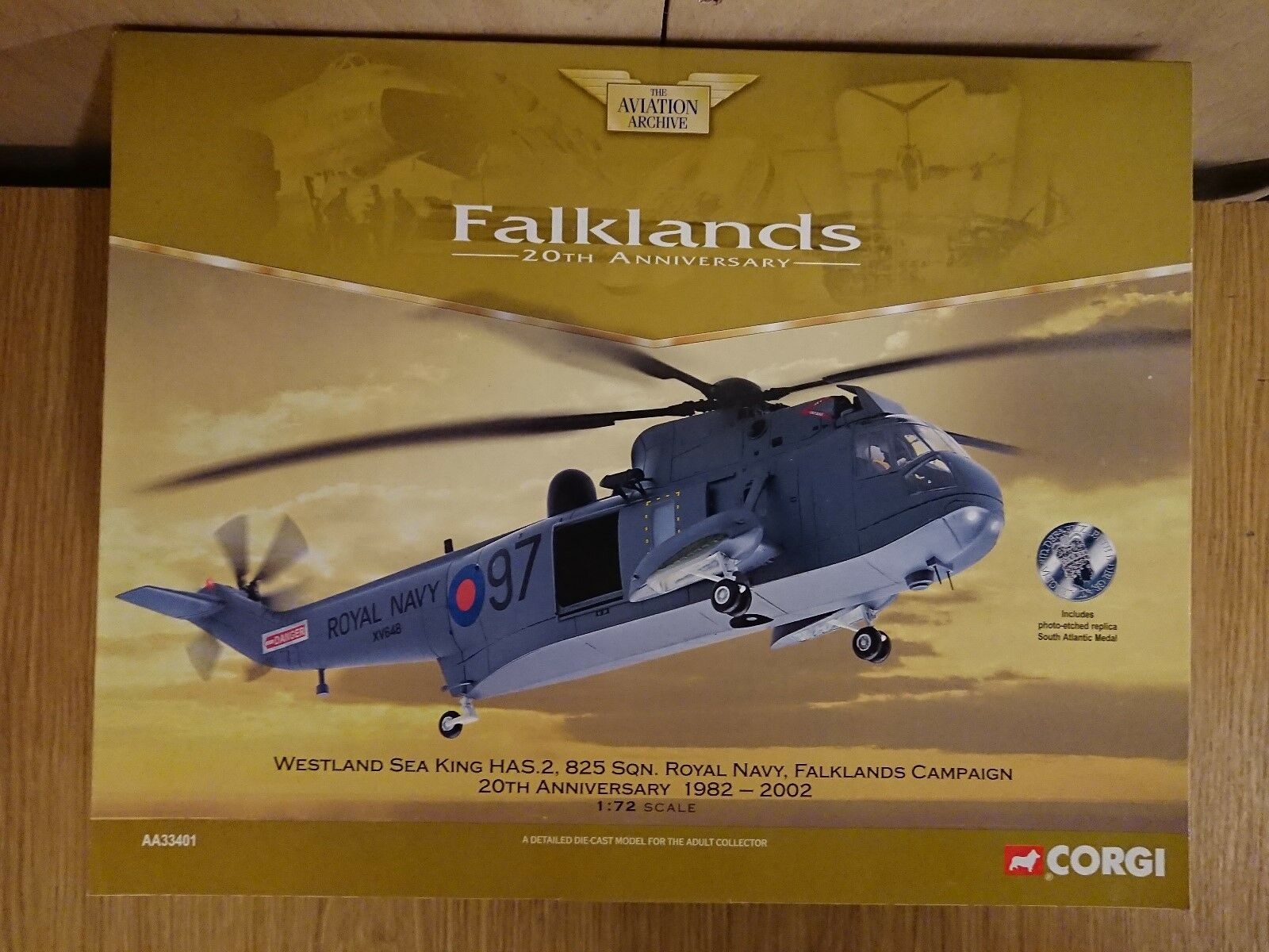 CORGI AA33401 Westland Sea King HAS.2 RN FALKLAND 20th ANNIVERSARIO 1982-2002