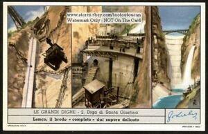Santa-Giustina-Dam-Italy-Diga-Di-Santa-Giustina-c40-Y-O-Trade-Ad-Card