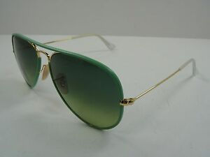 235560a939d Image is loading RAY-BAN-AVIATOR-SUNGLASSES-RB3025JM-001-3M-GREEN-