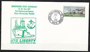 United-States-1989-FDC-cover-Steam-boat-Phoenix-Canaveral-Port