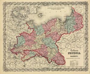 1860-Colton-039-s-034-PRUSSIA-amp-SAXONY-034