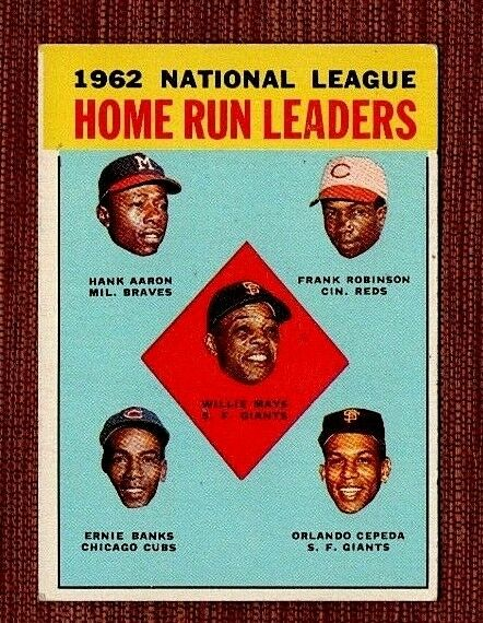 1963 Topps Hank Aaron Willie Mays 3 Baseball Card
