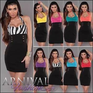 MINI-DRESS-PARTY-women-BLACK-EVENING-SHORT-COCKTAIL-bodycon-casual-slim-sexy-AU