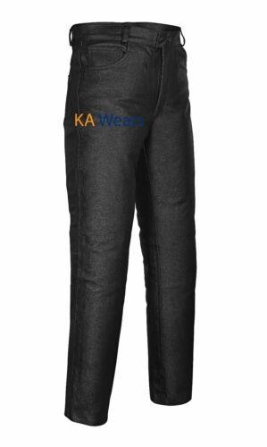 Motociclista Pelle Alla Moda Moto Uomo Jeans Nere Da Pantaloni Vero IOxq4wxEa