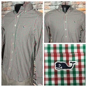 Vineyard-Vines-Slim-Fit-Tucker-Shirt-Long-Sleeve-Plaid-Button-Front-Mens-Size-XS