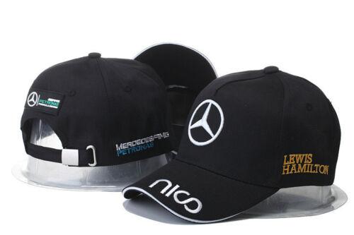 NEW 2019 Mercedes AMG F1 Adults Lewis Hamilton Baseball Cap Hat T2