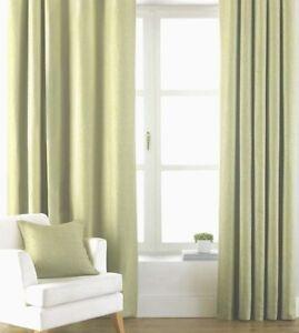 Apple-feuilles-vert-clair-3-034-ruban-Tops-Rideaux-100-Coton-Toile
