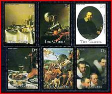GAMBIA 2000 DUTCH PAINTINGS by REMBRANDT, HEDA, etc.  MNH  (K-J18)
