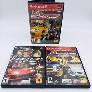 Midnight-Club-1-II-3-Dub-Edition-Playstation-2-ps2-Complete-Set-Lot