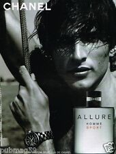 Publicité advertising 2005 Parfum Allure Sport De Chanel