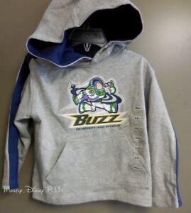 Disney-Store-Toy-Story-Buzz-Lightyear-Pullover-Hoodie-Sweatshirt-Boys-Size-2-3