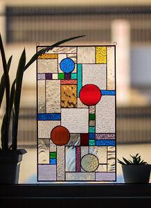 Stained Glass Tiffany Style Window Frank Lloyd Wright