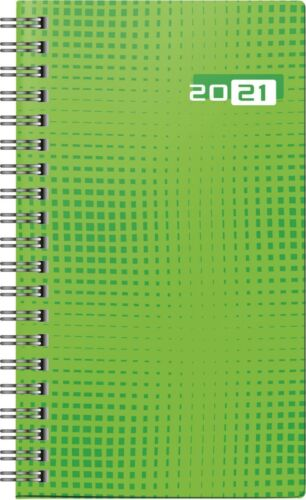 Taschenkalender Modell Taschenplaner int. 2021 Grafik-Einband grünKalender