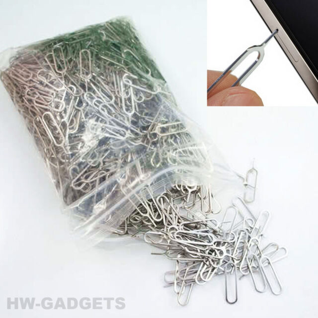 1000x Sim Card Tray Eject Removal Pin Tool - iPhone iPad Samsung Galaxy & Others