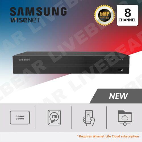 Wisenet SDR-843051T 8 Channel Super HD 1TB Hard Drive Security DVR