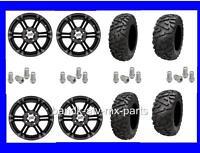 Yamaha Grizzly 700 4/110mm Tire Kit Itp Ss212 Black Rims 27x9-14 27x11-14 Hd