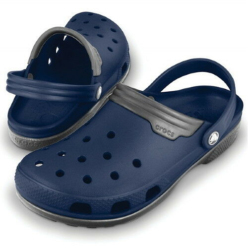 Crocs Duet Sandals, Crocs Adults Sport Clogs - Navy Flat - Size 4-12