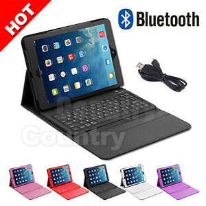 cover wireless leather case for apple ipad air 1 2 bluetooth keyboard folding ebay. Black Bedroom Furniture Sets. Home Design Ideas