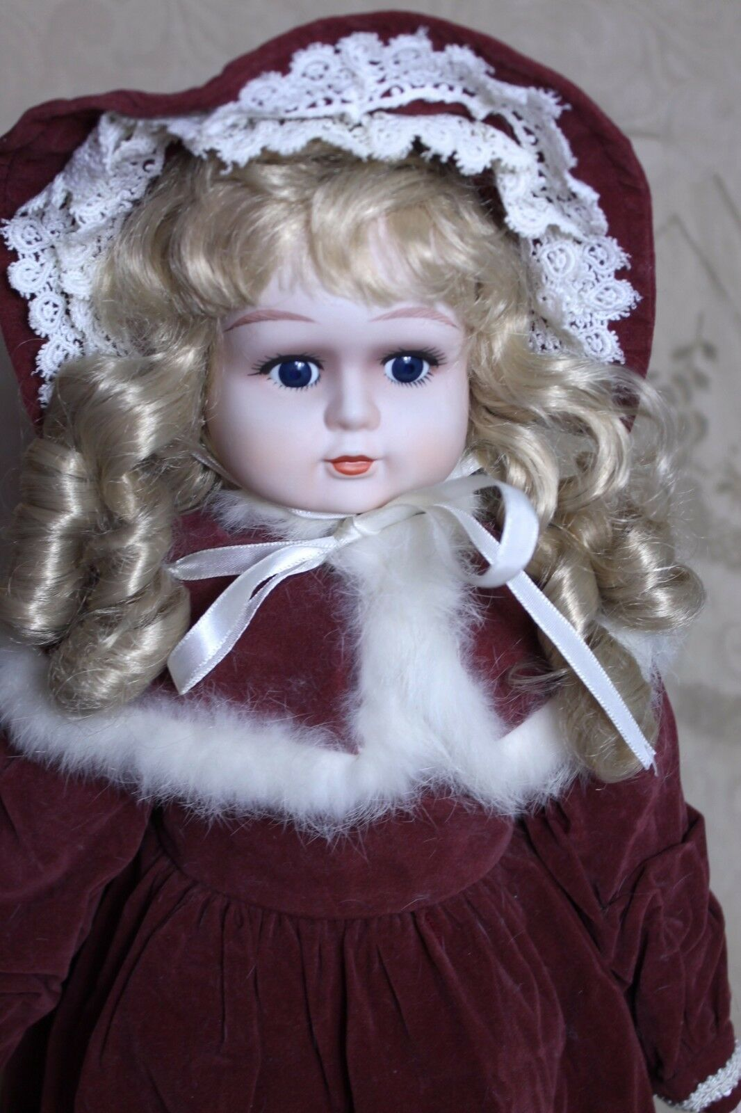 Large Victorian Style Doll Porcelain Face Dress Hands Feet 22-24