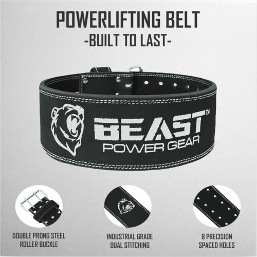 Powerlifting Belt Advanced Back Support 10MM Thick /& 4 Inches Wide Men /& Women