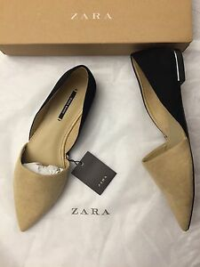 c45308f269b3 Image is loading Zara-Pointed-Flats-Size-6-5-37-Women-