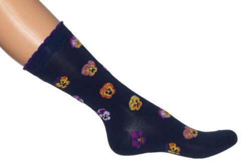BONNIE DOON~ Damen ~ Violet Socks ~ Socken ~  black und light navy ~ 36-42