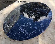 Naturstein Tischplatte Fossilien in Kalkstein Nautilus Ammonit Orthoceraten OVAL