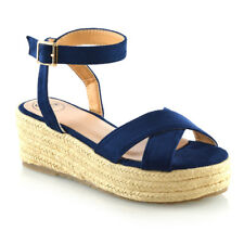 59628da020e4 item 1 Womens Cross Strap Platform Wedge Heel Sandals Ladies Espadrilles  Shoes Size 3-8 -Womens Cross Strap Platform Wedge Heel Sandals Ladies  Espadrilles ...